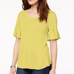 Style & Co Scoop-Neck Bell-Sleeve Sweater Top